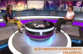 Tévéinterjú Dr. Stefanik Krisztinával az év innovatív gyerekkönyve-díj kapcsán